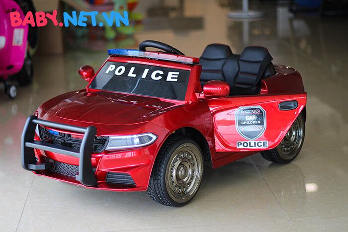 Xe hơi điện cảnh sát trẻ em JC-666 10