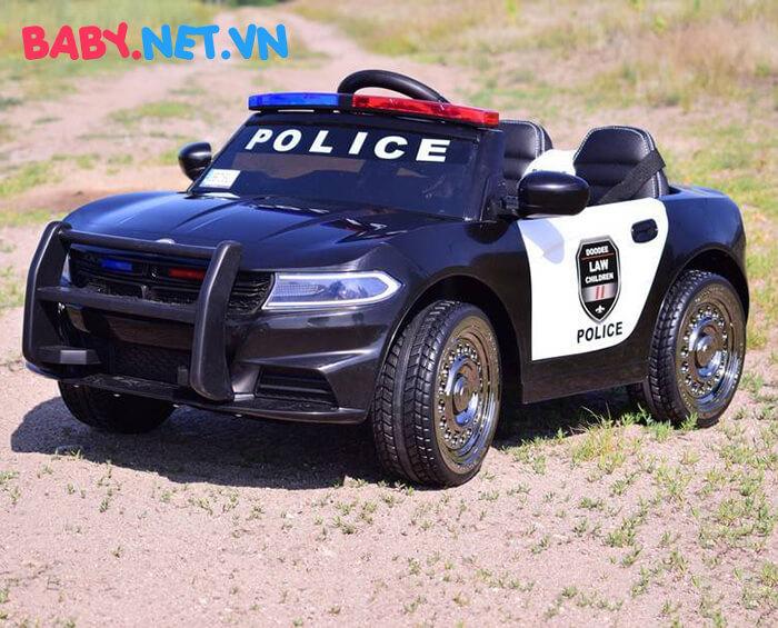 Xe hơi điện cảnh sát trẻ em JC-666 5
