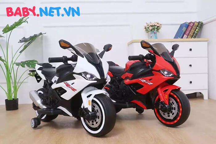 Xe mô tô điện cho bé S1000RR tay ga đèn bánh 1
