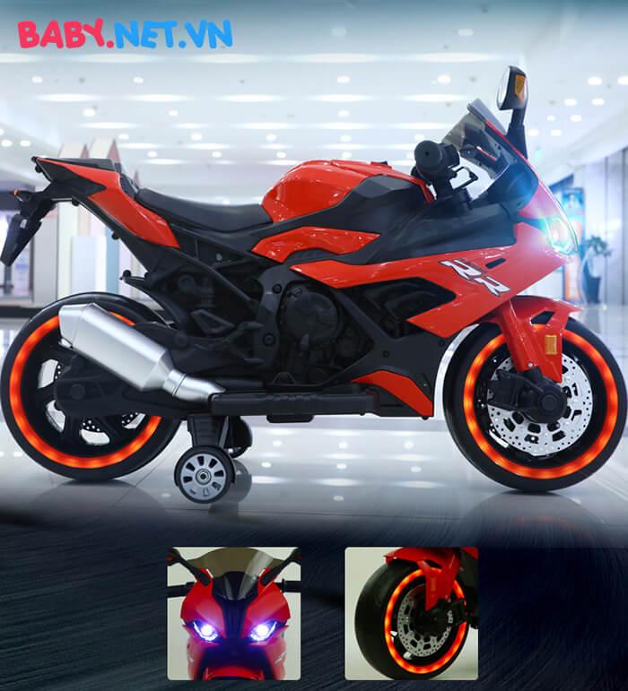 Xe mô tô điện cho bé S1000RR tay ga đèn bánh 11