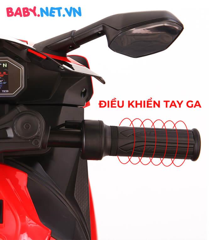 Xe mô tô điện cho bé S1000RR tay ga đèn bánh 12