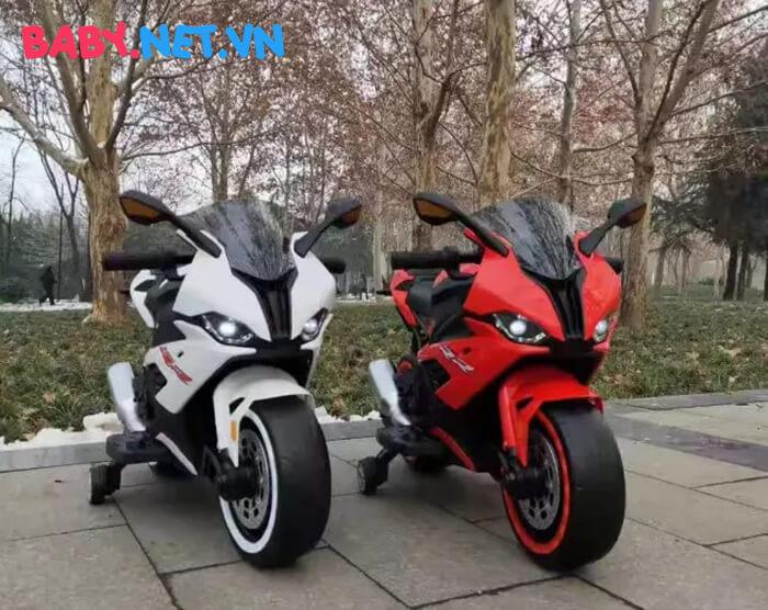 Xe mô tô điện cho bé S1000RR tay ga đèn bánh 2