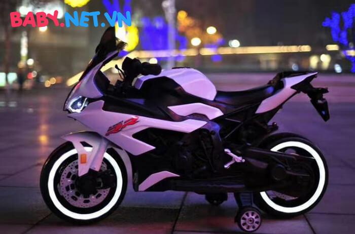 Xe mô tô điện cho bé S1000RR tay ga đèn bánh 3