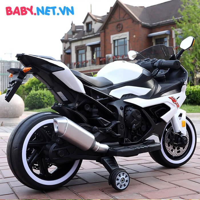 Xe mô tô điện cho bé S1000RR tay ga đèn bánh 4