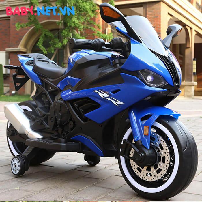 Xe mô tô điện cho bé S1000RR tay ga đèn bánh 5