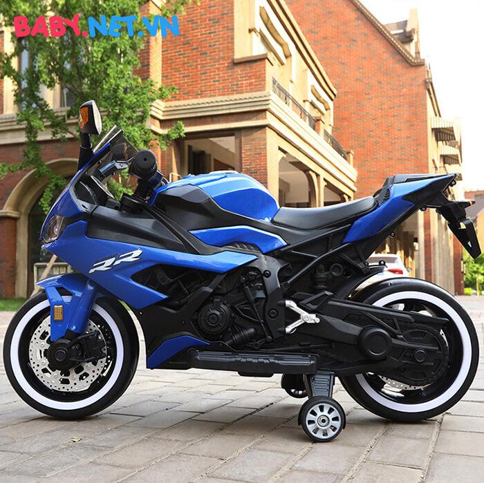 Xe mô tô điện cho bé S1000RR tay ga đèn bánh 6