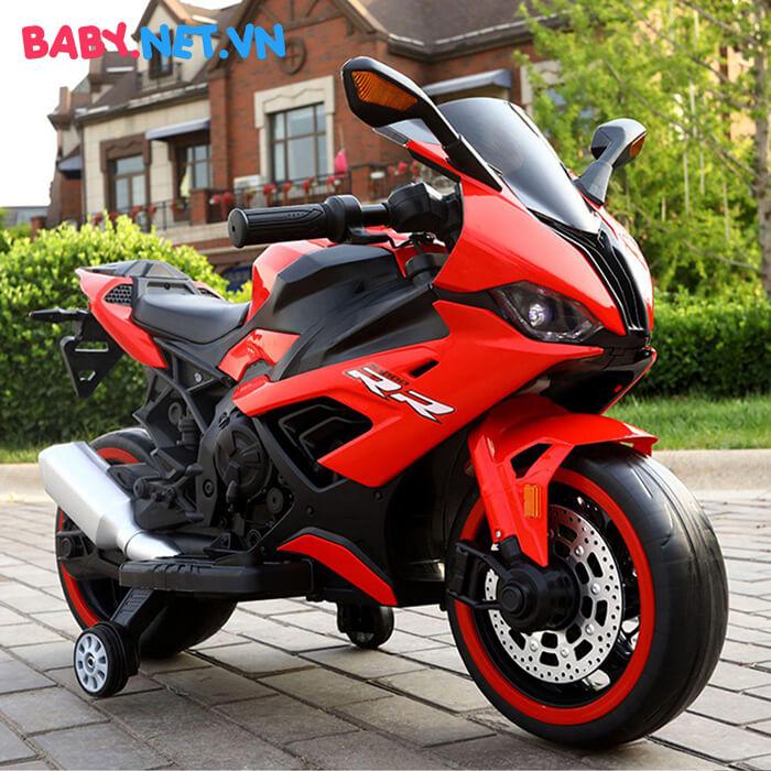 Xe mô tô điện cho bé S1000RR tay ga đèn bánh 7