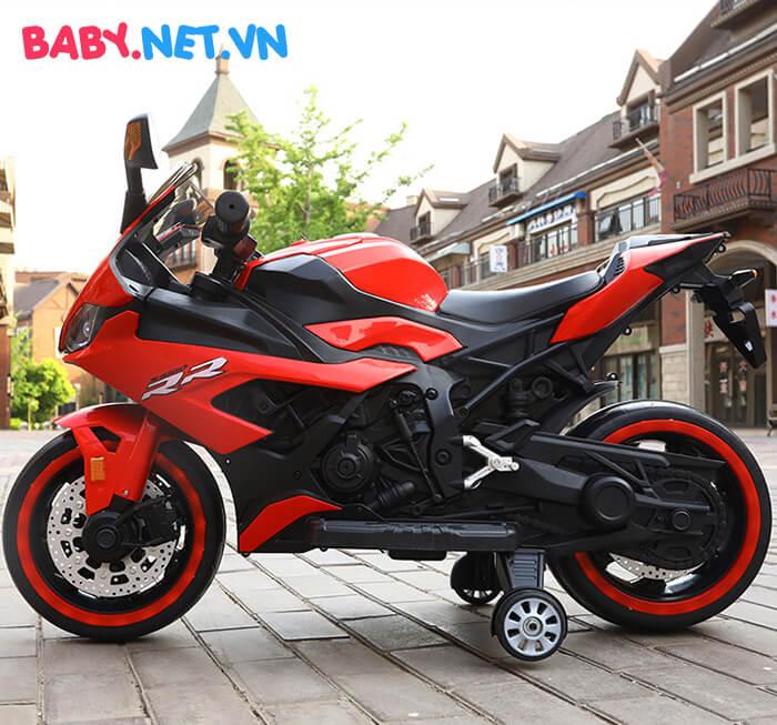 Xe mô tô điện cho bé S1000RR tay ga đèn bánh 8