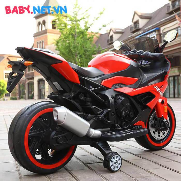 Xe mô tô điện cho bé S1000RR tay ga đèn bánh 9