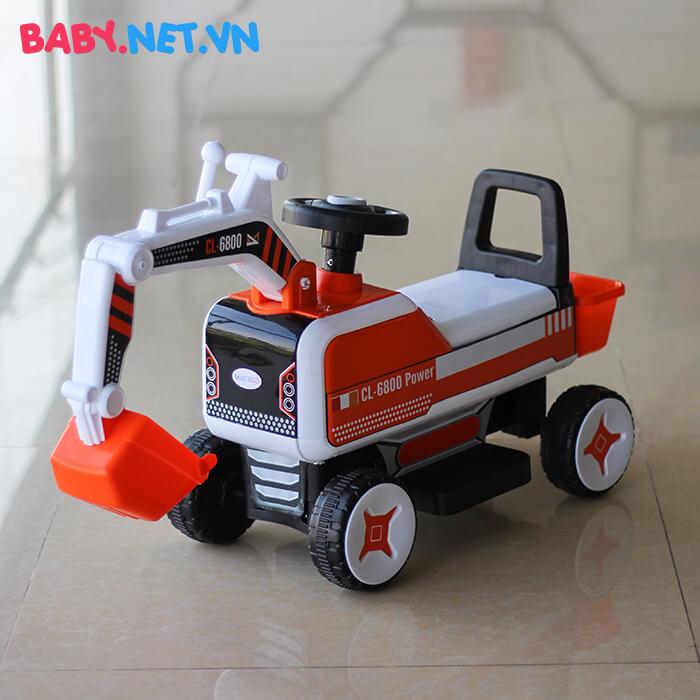 Xe chòi chân máy xúc cho bé CL-6801 1