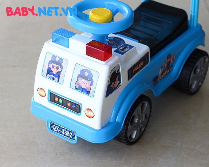 Xe chòi chân cho bé cảnh sát QX-3352 3