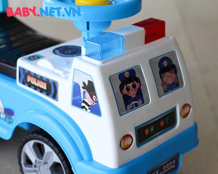 Xe chòi chân cho bé cảnh sát QX-3352 4