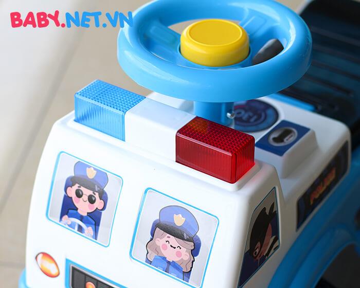 Xe chòi chân cho bé cảnh sát QX-3352 5