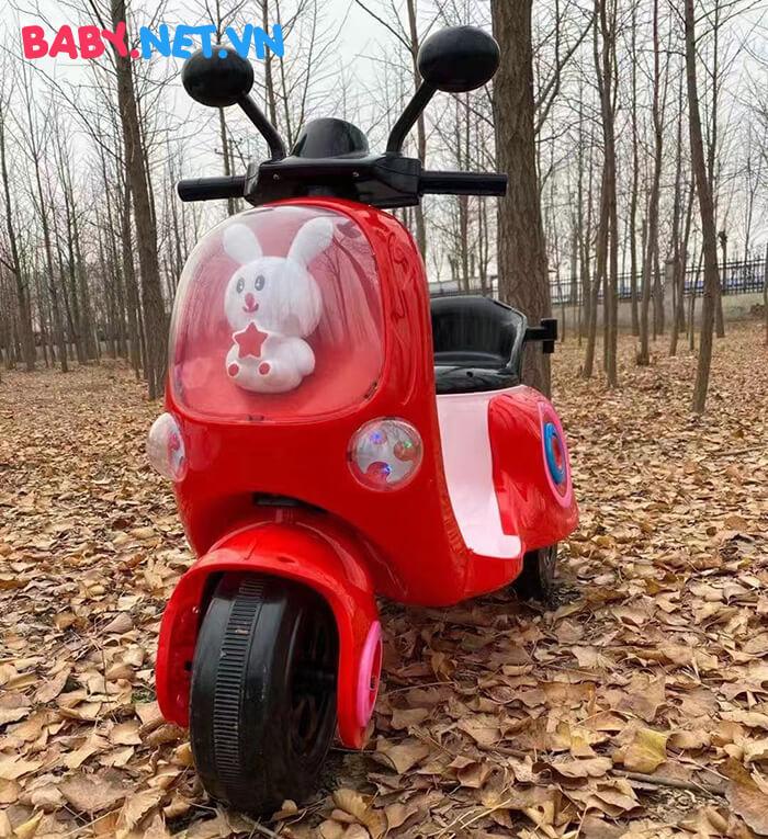 Xe máy điện cho bé hình thỏ M02 1