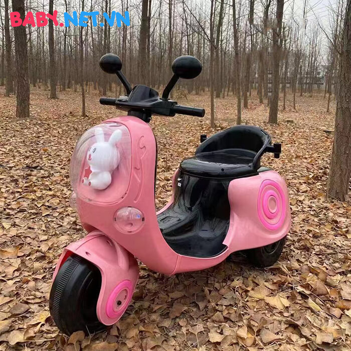 Xe máy điện cho bé hình thỏ M02 3